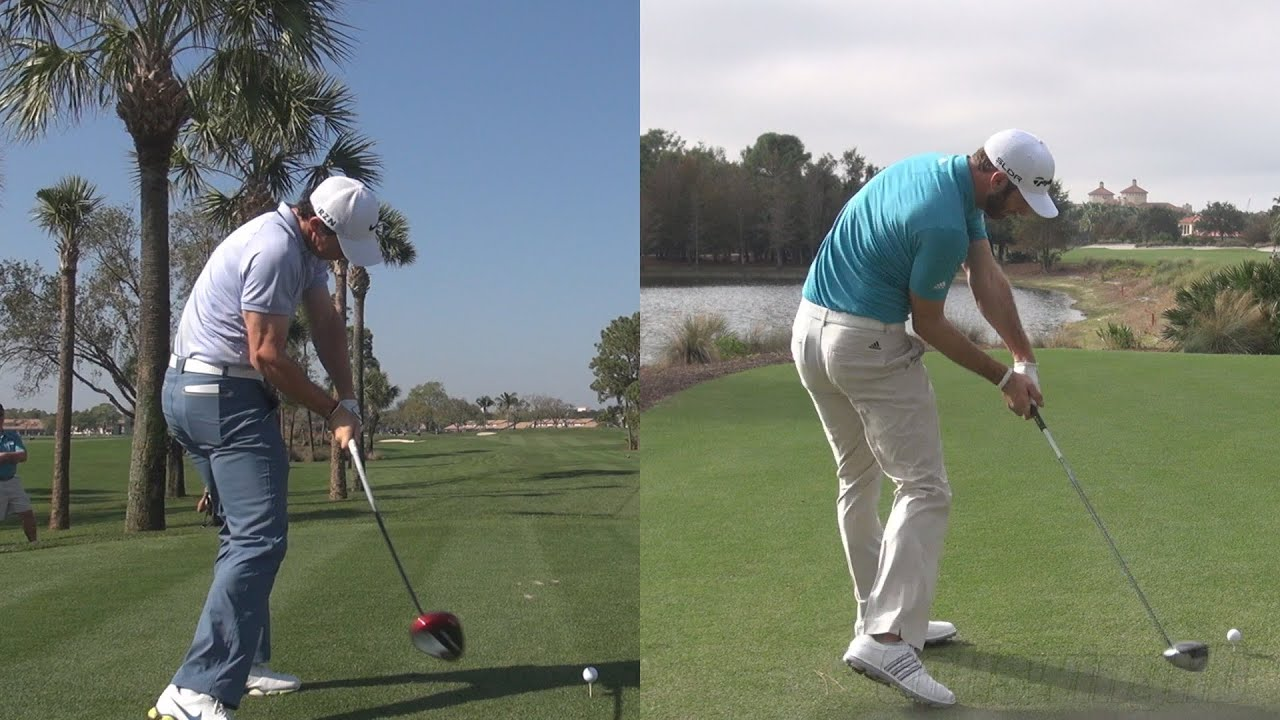 RORY MCILROY vs DUSTIN JOHNSON - EXTREME DRIVER POWER ...