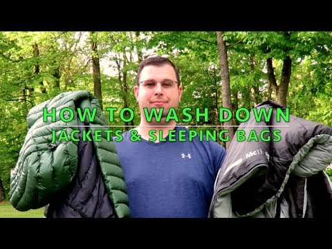 How To Wash Your Down Sleeping Bag Or Down Jacket.