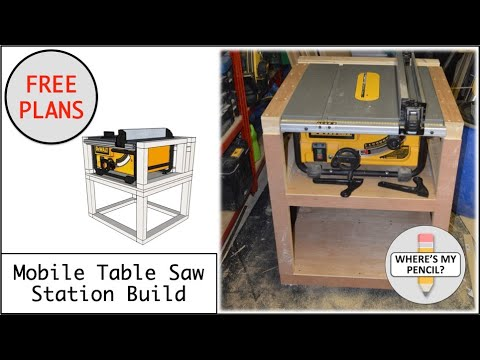 Mobile Table Saw Station Build For Dewalt Dw745 Free Plans