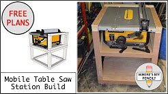 Mobile Table Saw Station Build for DeWalt DW745 - FREE PLANS