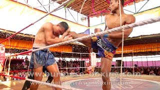 Lethwei Burmese Boxing [HD] - Fight Tournament near Eindu (1) - Kayin State Myanmar - Thingyan 2013