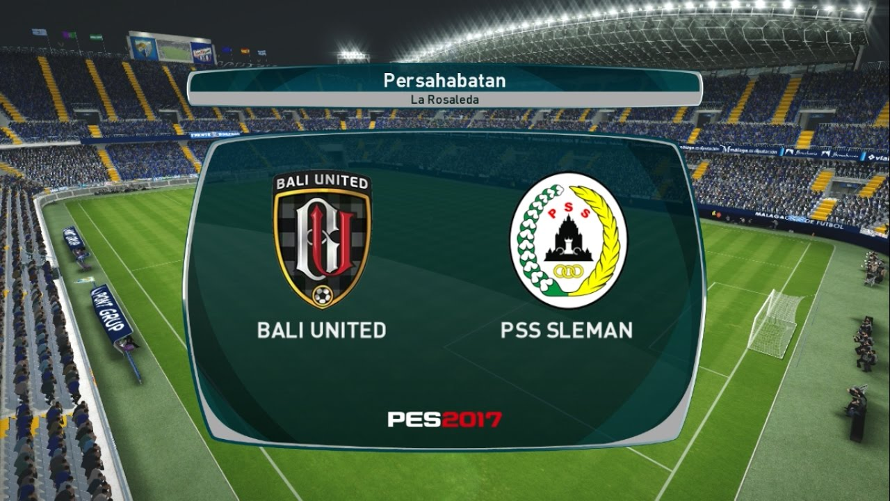 bali united vs pss sleman friendly match pes 2017 gameplay pc