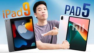 Máy tính bảng 10 triệu tốt nhất: iPad Gen 9 hay Xiaomi Pad 5?