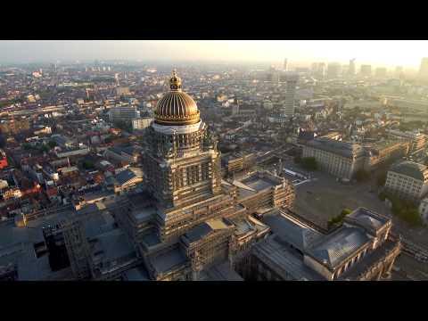 Palais de justice de Bruxelles (aerial video)