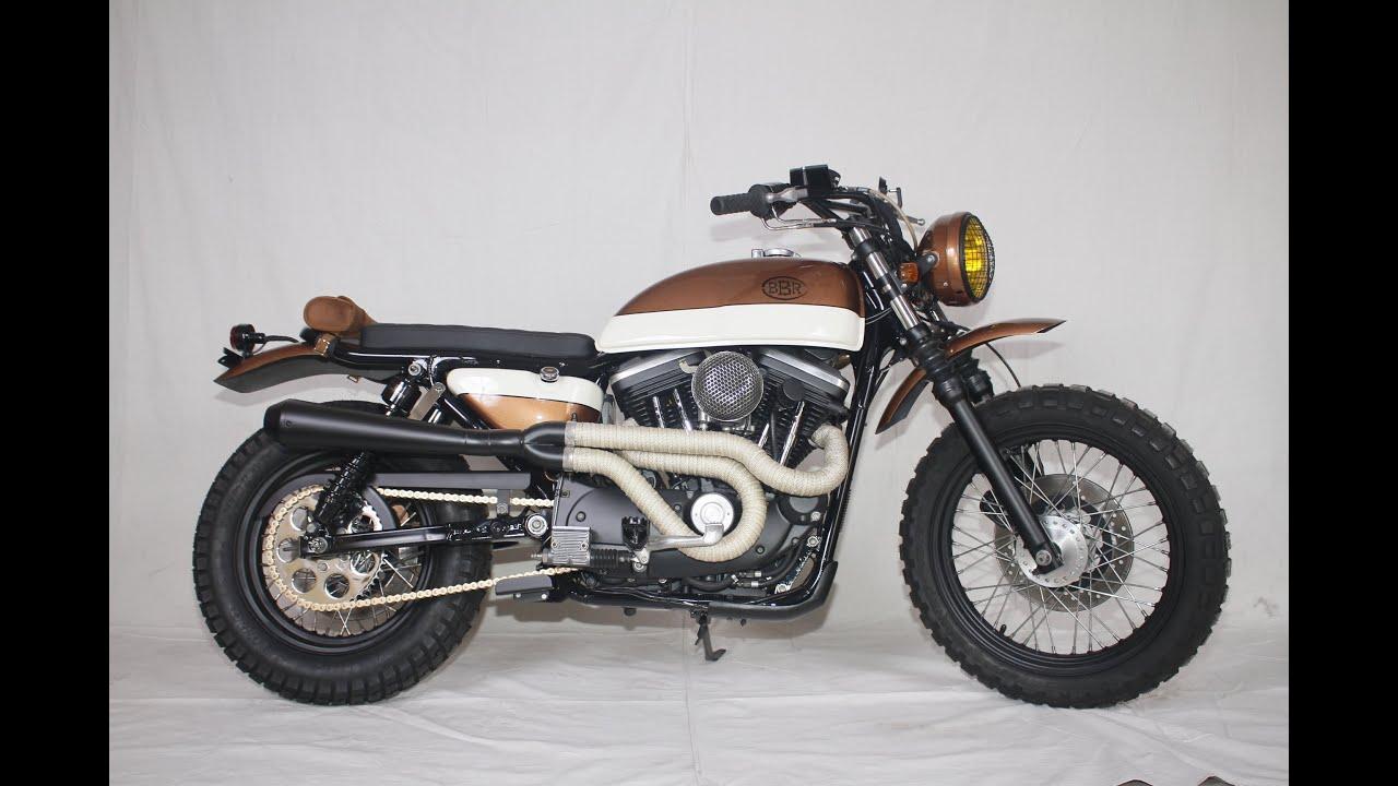Bare Bone Rides Custom Harley Davidson XL1200 EVO Sportster Scrambler Build
