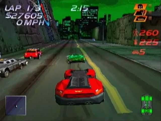 Carmageddon on a Sony Playstation 1