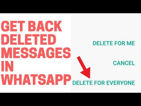 Retrieve 'deleted for everyone' messages in WhatsApp