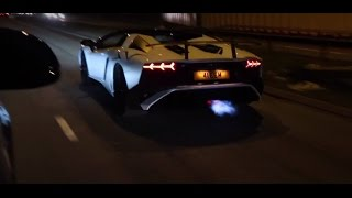 Late Night Run! - Flaming Aventador Sv!! Tunnels And A Lot More!