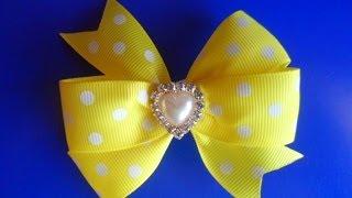 Как сделать Бант из репсовых лент / How to make a bow of ribbons rep