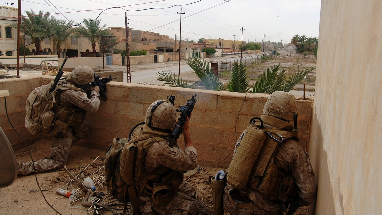Download US Marines in Combat During Operation in Ramadi, Iraq War 2006