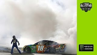 Kyle Busch burns it down after first win at Charlotte