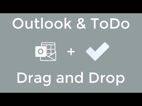 Microsoft Outlook And Microsoft ToDo - Drag And Drop And Email To Create A Task