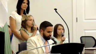 """Reagan and Emmy Singing  """"You Are God Alone"""" Live @ 13th Street Church of God Easter Service"""