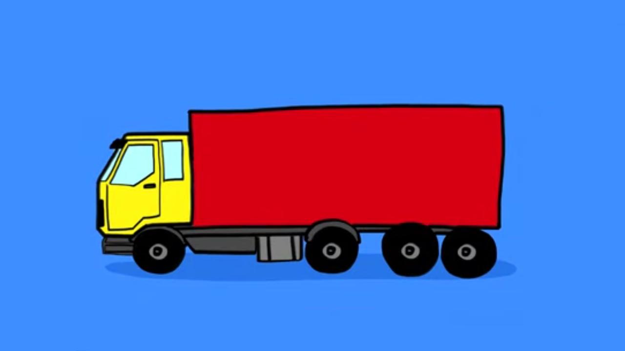 Apprendre dessiner camion youtube - Dessiner un camion de pompier ...