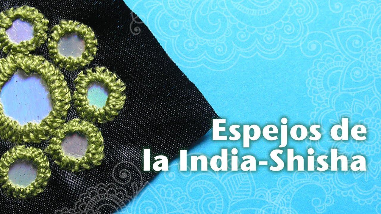 Cómo Hacer Espejos Bordados de la India o Shisha - YouTube