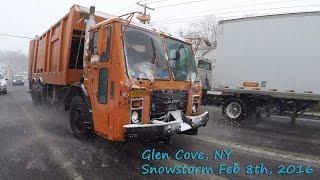 NYC Snowstorm / Glen Cove, NY (Driving POVs) February 8th, 2016