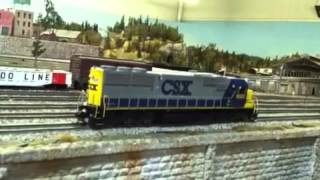 Athearn RTR SD50 with QSI Titan and two speakers