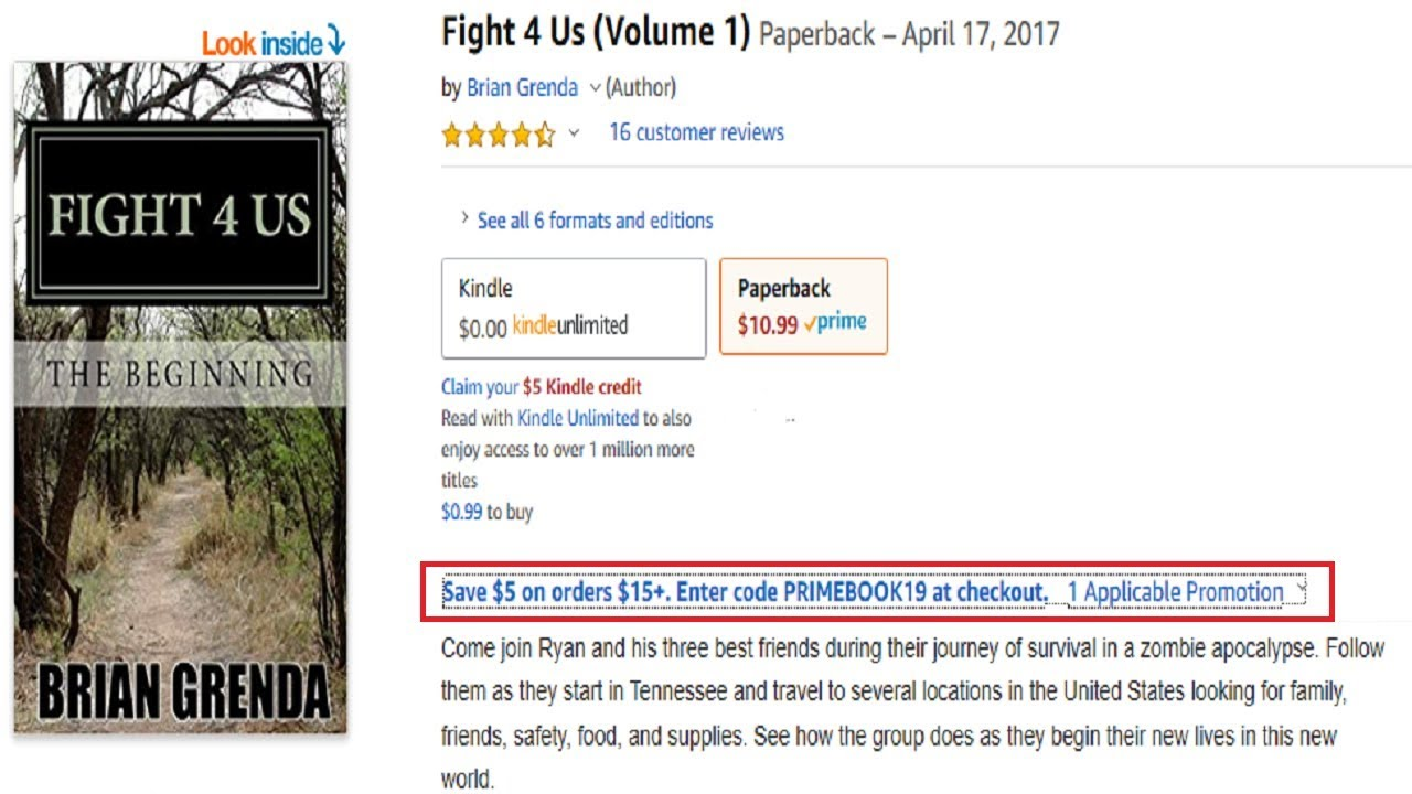 My FIGHT 4 US Book Series News & A Coupon Code For Amazon Prime Day 2019