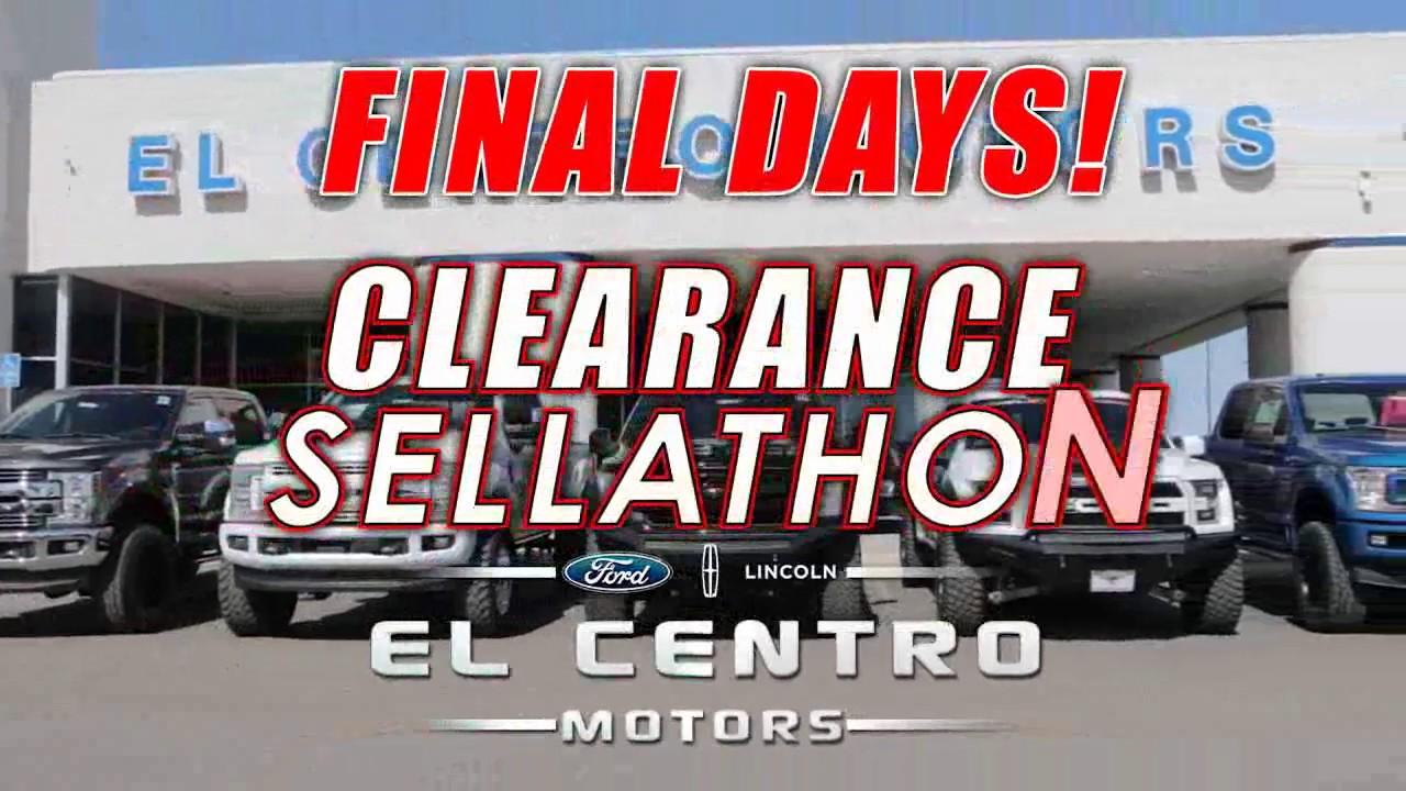 El Centro Motors >> El Centro Motors Clearance Sellathon