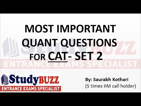 Important quant questions for CAT/ MBA - Part 2