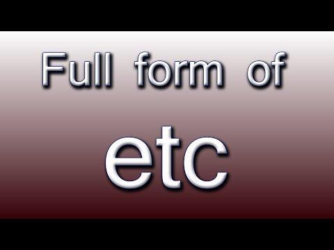 etc Full form - YouTube
