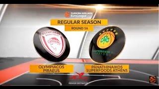 Highlights: Olympiacos Piraeus - Panathinaikos Superfoods Athens