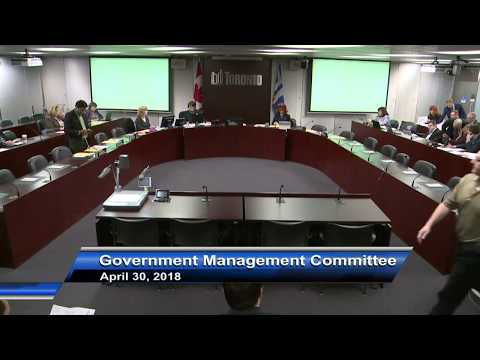 Government Management Committee - April 30, 2018
