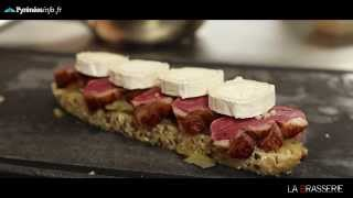 [TARBES]La recette de La Brasserie : Tartine de magret de canard (Août 2013)