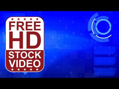 FREE HD video backgrounds - Abstract blue hi tech digital background seamless loop animation