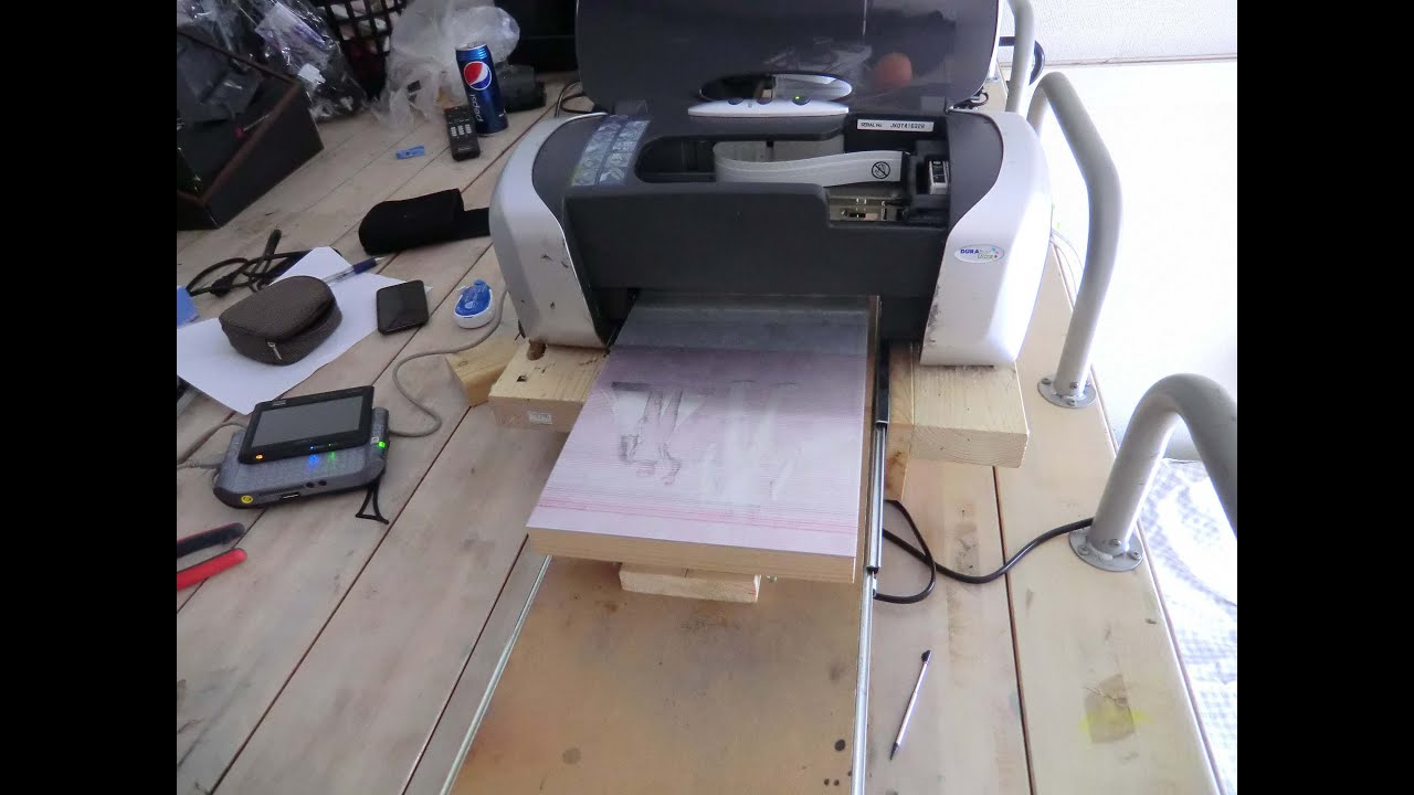 Homemade DTG Printer - Upgraded - YouTube
