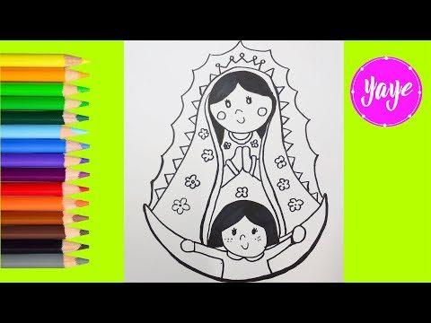 Ideas Para Dibujar La Virgen De Guadalupe Dibujos Para Niños La