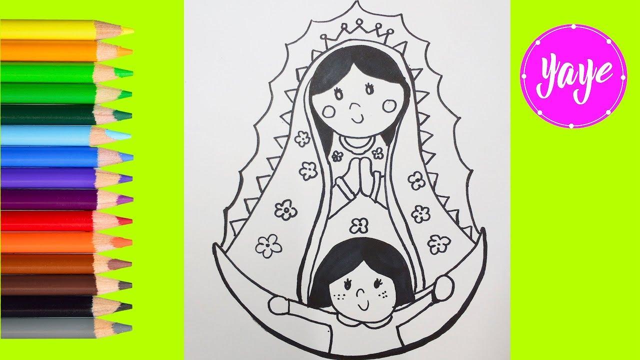 Ideas Para Dibujar La Virgen De Guadalupe Dibujos Para Niños La Rosa De Guadalupe Yaye