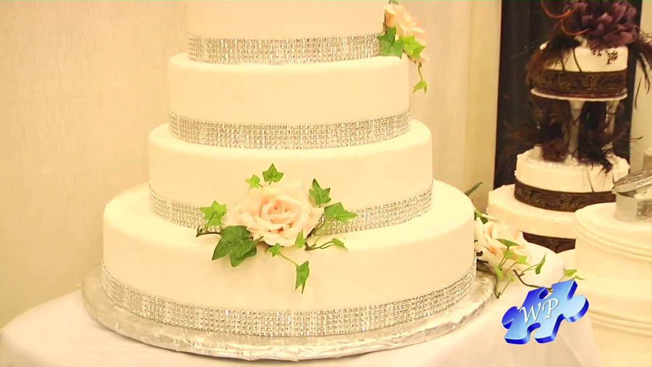 2013 Bridal Trends: Bling\'d Out Wedding Cheesecake - YouTube