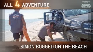 Simon bogged on the beach ► All 4 Adventure TV