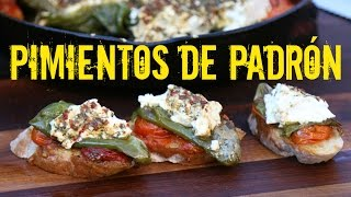 Pimientos de Padrón mit Feta und Tomaten vom Braai