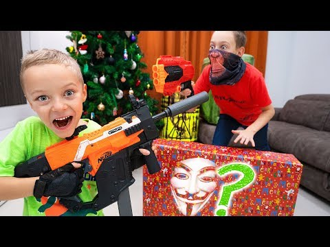 Don't Grab WRONG Mystery NERF Present !!! Who sent so many MYSTERY presents to us ???