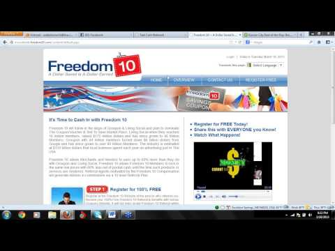 Freedom 10 by TCN:  Join 2013's Hottest Business Opportunity In The World For Just $10!!!