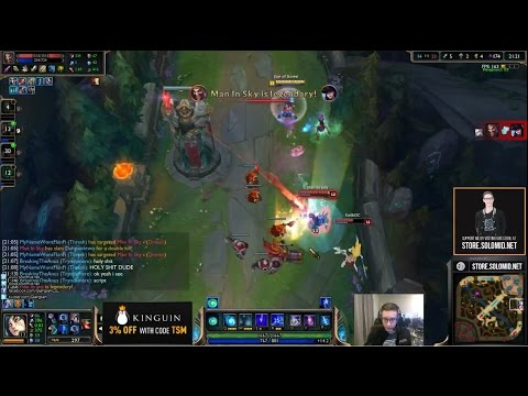 Bjergsen game hacked by Draven