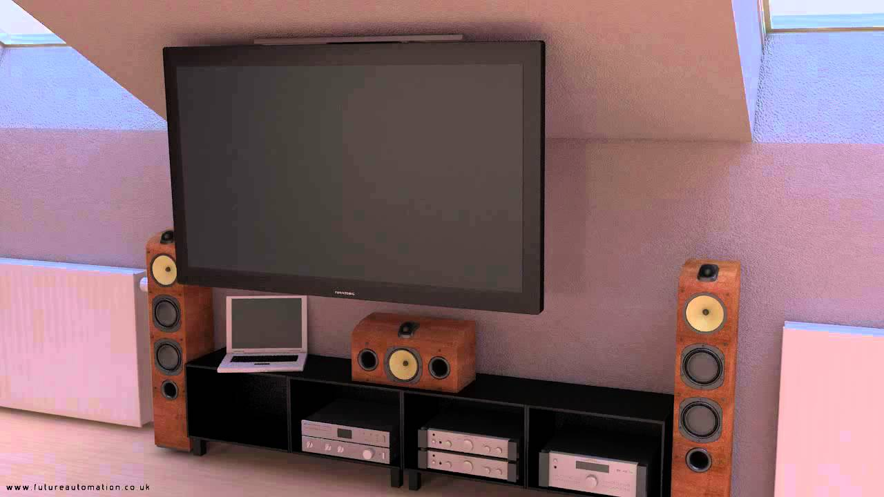 Motorised pitched ceiling tv mount future automation - Slanted wall tv mount ...