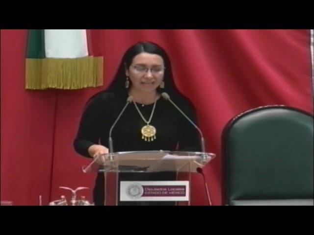 30/12/2018: Intervención Dip. Azucena Cisneros, sesión solemne de Clausura, 1er. Periodo Ordinario