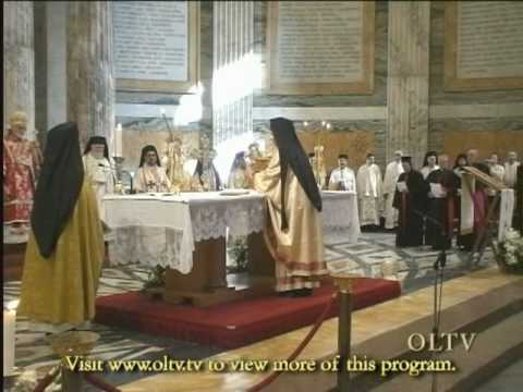 Melkite Patriarch Gregorios Divine Liturgy in Rome