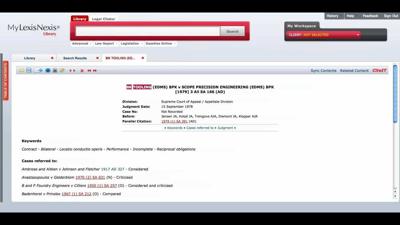 how to search in lexis nexis