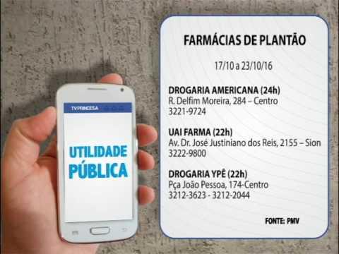 (JC 17/10/16) Farmácias de Plantão