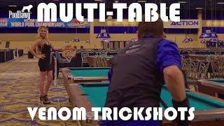 INSANE Multi-Table Pool Trickshots -- Venom Trickshots