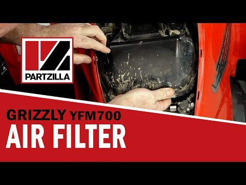 Yamaha Grizzly Air Filter Cleaning | Yamaha YFM700 | Partzilla.com