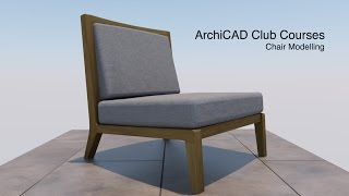 Chair Modeling in ArchiCAD