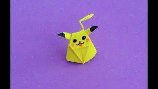 折纸 皮卡丘 origami  pikachu พับกระดาษ    종이 접기、折り紙、оригами / Видео