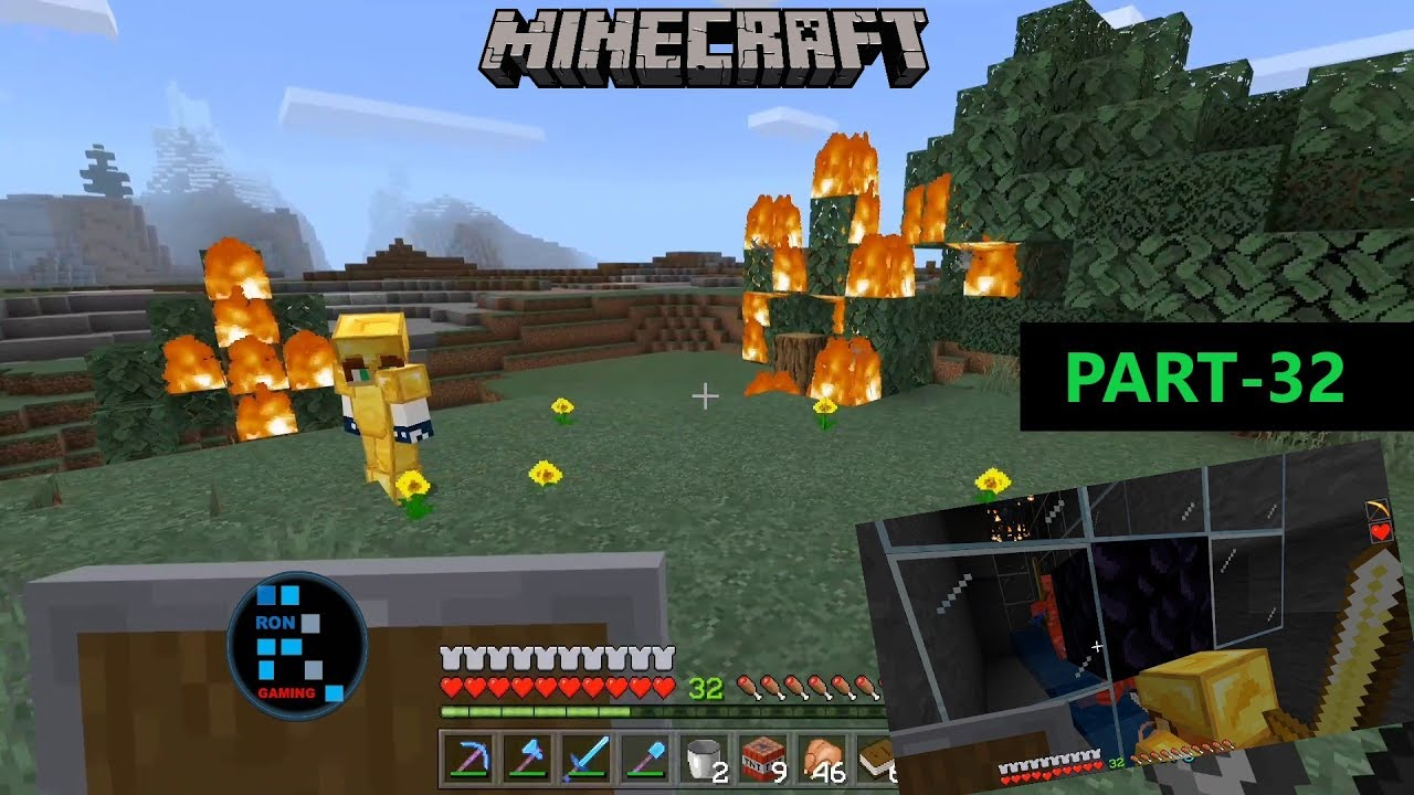 MINECRAFT GAMEPLAY | BURNING DOWN SOME TREES & CREATING XP FARM WITH SPAWNER#32 thumbnail