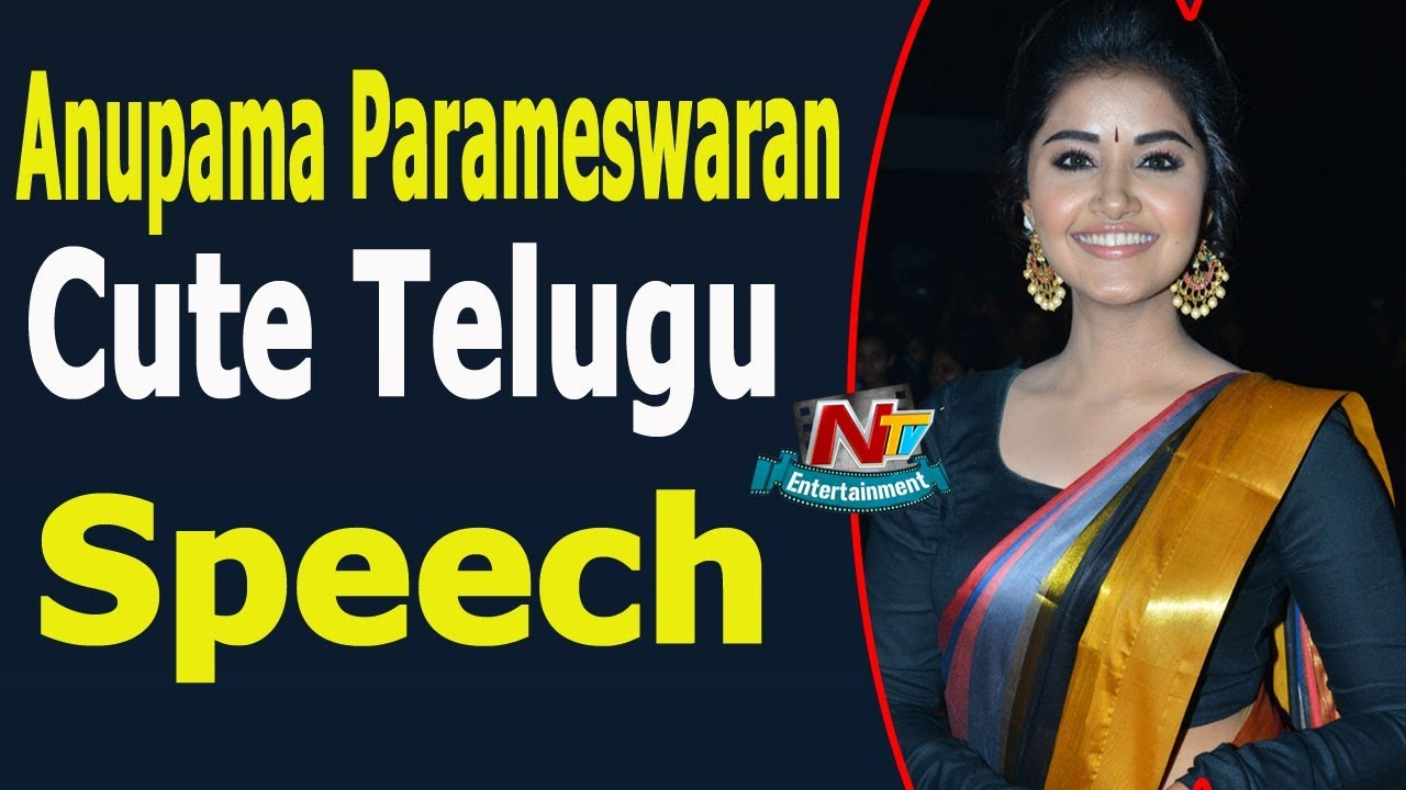 anupama parameswaran cute telugu speech at tej i love you movie audio launch ntv entertainment