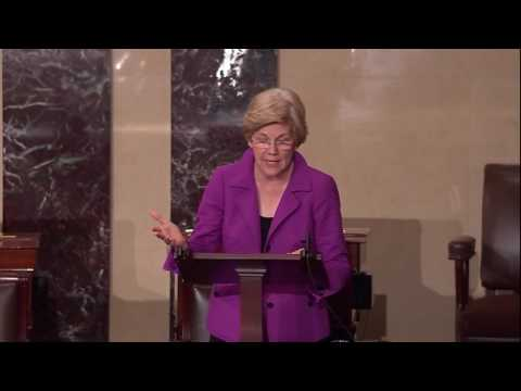 Senator Elizabeth Warren Introduces the 21st Century Glass Steagall Act